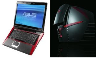Asus G50, G71 and Ares CG6155 hit US