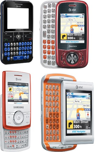 AT&T Matrix, Slate, Propel and Quickfire QWERTY phones