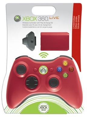 Microsoft XBox 360 Red Wireless Controller