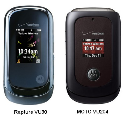 Verizon Motorola Raptue VU30 and MOTO VU204 Clamshells