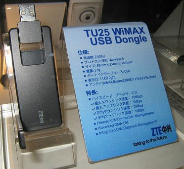 ZTE TU25 WiMAX USB Dongle