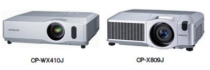 Hitachi CP-WX410J and CP-X809J Business Projectors