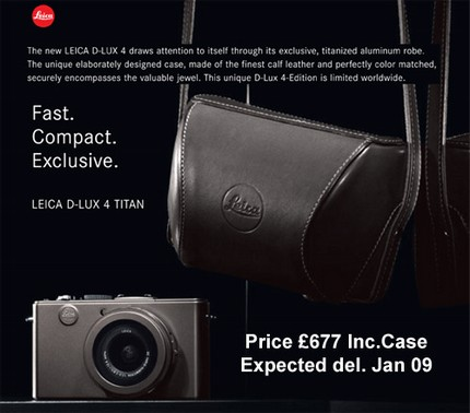 Leica D-Lux 4 TITAN Limited Edition Camera