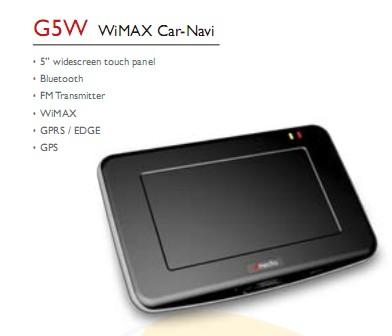 dmedia G5W WiMAX Car-Navi GPS Device