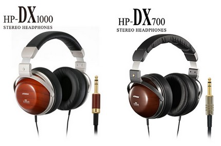 JVC Victor HP-DX1000 and HP-DX700 Wooden Headphones