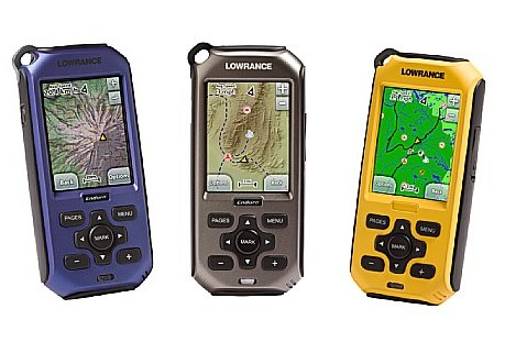 Lowrance Endura Outback, Safari and Sierra handheld GPS devices
