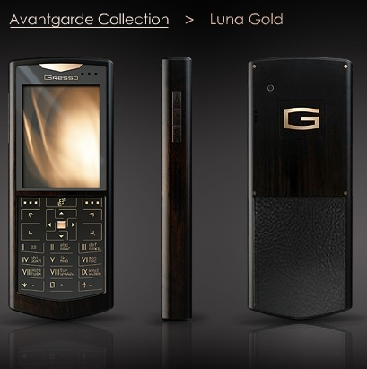 Gresso Avantgarde Luna Gold luxury Phone