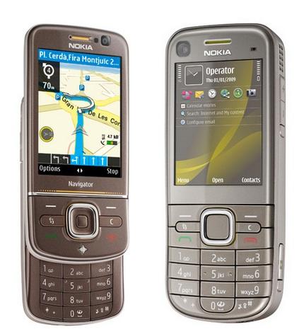 Nokia 6710 Navigator and 6720 classic navigation phones