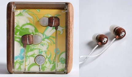 Skull Candy Wooden Earbuds