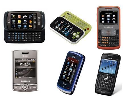 AT&T Six New Smartphones