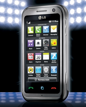 LG Arena KM900 touchscreen phone