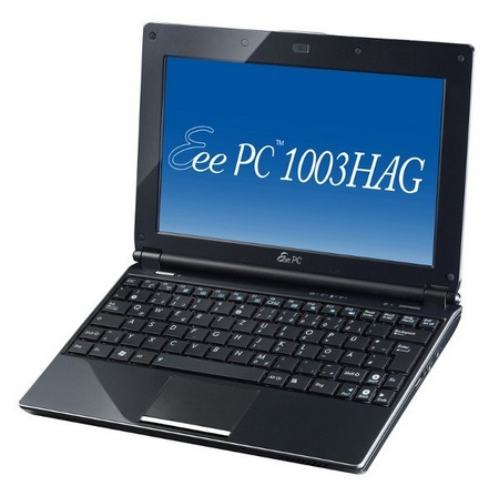 Asus Eee PC 1003HAG supports FOMA HIGH-SPEED