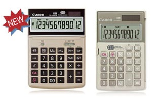 Canon LS-154TG, HS-1000TG and TS-1200TG recycled calculators