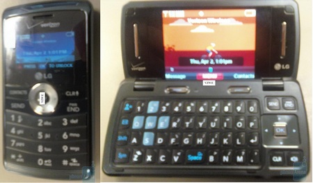 Verizon LG enV3 vx9200 Spotted