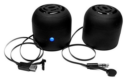Koyono Chill Pill Pocket Rocket Speakers with cables