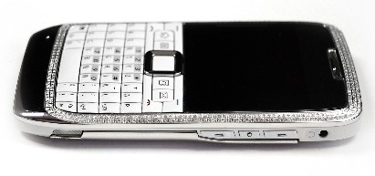 Nokia E71 White Diamond Encrusted Luxury Phone