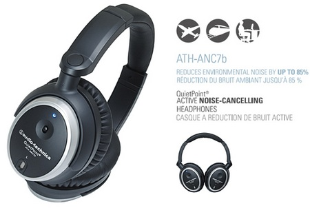 Audio-Technica ATH-ANC7b Noise-Cancelling Headphones