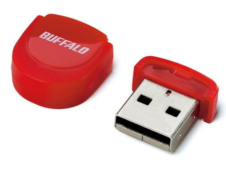 Buffalo RUF2-PS 16GB Tiny USB Flash Drive RED