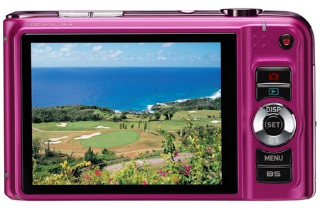 Casio EXILIM EX-H10 10X Zoom Camera pink back