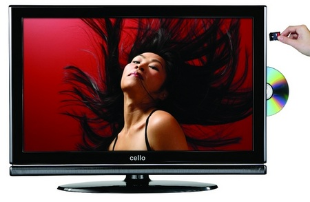 Cello HDTVs with built-in DVD Player and SD PVR
