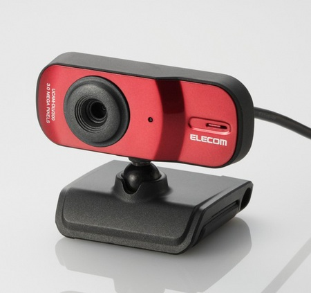 Elecom UCAM-DLV300T 3 megapixel webcam red