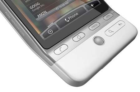 HTC Hero G3 Android Smartphone control buttons
