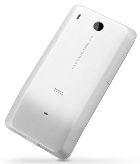 HTC Hero G3 Android Smartphone white back