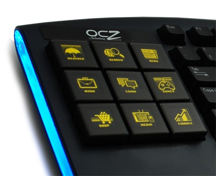 OCZ Sabre OLED Gaming Keyboard amber oled key lighting