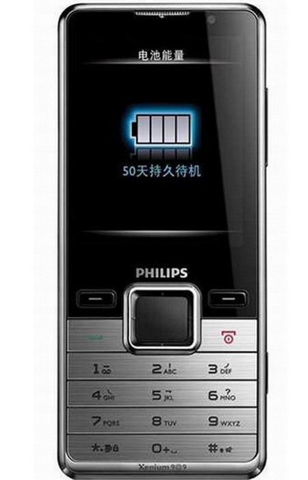 Philips Xenium X630 offers 50 days of standby time