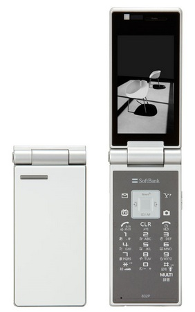 Softbank Panasonic 832P 10mm thick Clamshell white
