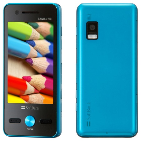 Softbank Samsung Omnia Pop 931SC Touch Phone Blue