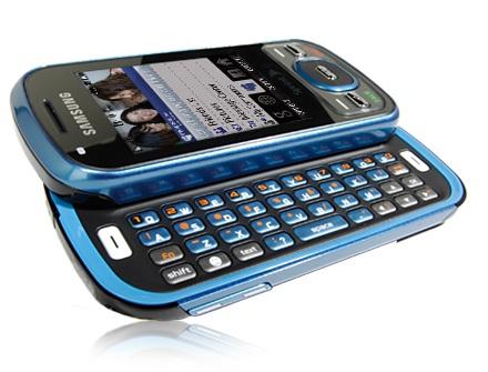 Sprint Samsung Exclaim dual sliding QWERTY keyboard