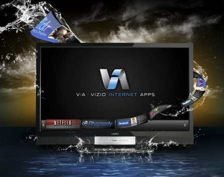 Vizio XVT series 1080p HDTVs with 240Hz frame rate and Internet Apps