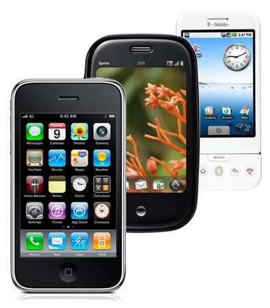 iPhone 3GS vs iPhone 3G vs Palm Pre vs T-Mobile G1