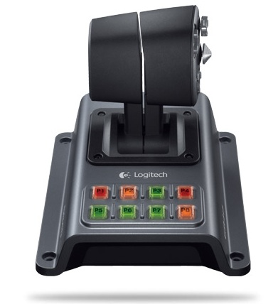 Logitech Flight System G940 Flight Simulation Controller rudder-control