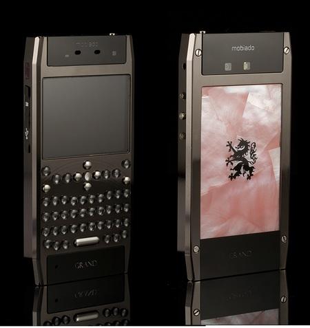 Mobiado Grand 350PRL Luxury QWERTY Phone Pink
