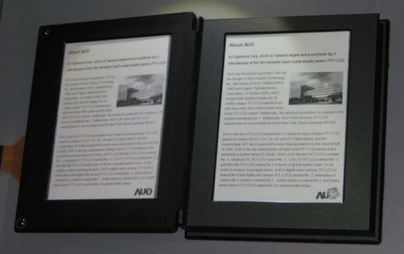 AUO to develop 10-inch and A4 e-paper