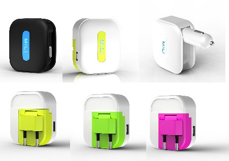 BeamBox MiLi Universal Charger colors