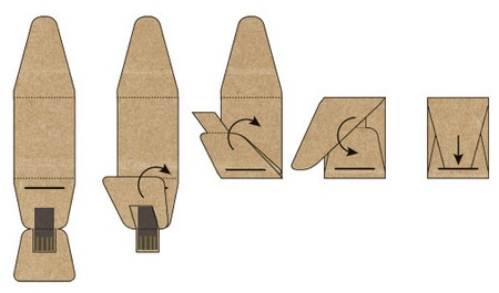 Boardy USB Stick made of recyclable paper folding