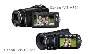 Canon iVIS HF21 and iVIS HF S11 Full HD Camcorders