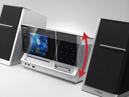JVC-Victor NX-TC5 Mini HiFi Sytem with 1Seg, ipod dock slide