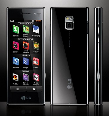LG BL40 New Chocolate Phone back and front