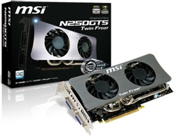 MSI N250GTS Twin Frozr Graphics Cards
