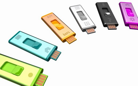 Quirky Split Stick double-sided USB drive