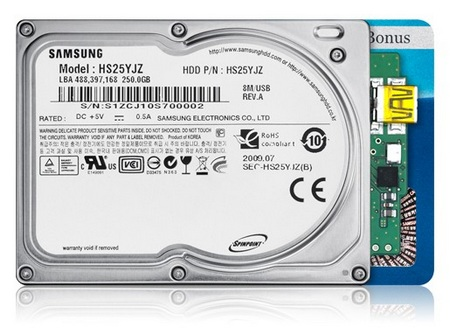 Samsung Spinpoint N3U 1.8-inch Hard Drive with Native USB Controller