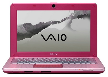 Sony VAIO W Series Mini Notebook  berry pink