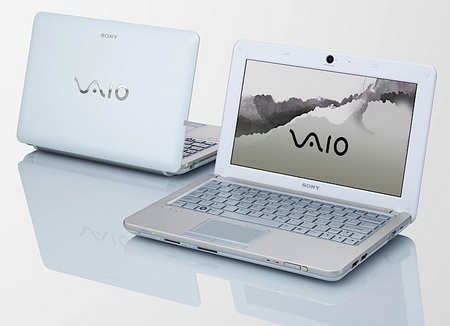 Sony VAIO W Series Mini Notebook sugar white