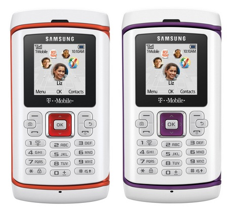 T-Mobile Samsung Comeback t559 qwerty phone front