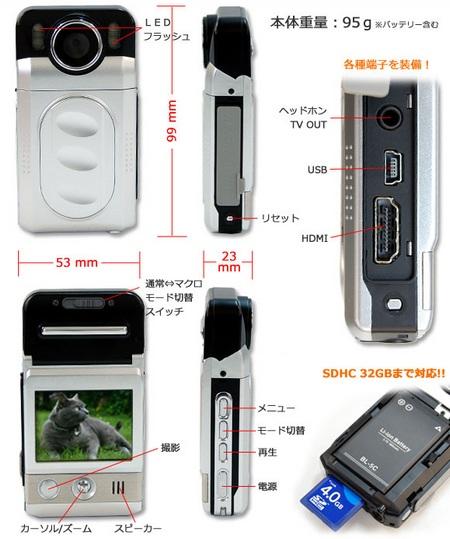 Thanko HDCam Pocket Camcorder 2