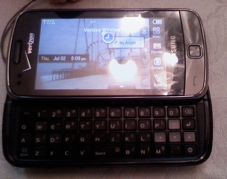 Verizon Samsung Glyde 2 U960 QWERTY Phone keyboard